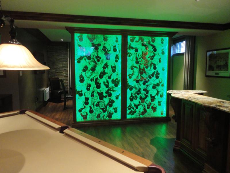 cr ation sur mesure d 39 un mur de bulles dans une maison. Black Bedroom Furniture Sets. Home Design Ideas